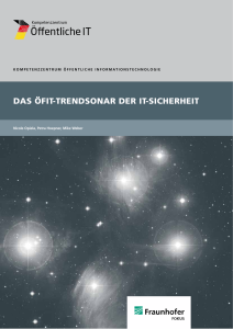 Titelbild der Publikation Das ÖFIT-Trendsonar der IT-Sicherheit