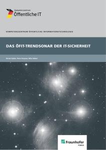 Titelbild der Publikation Das ÖFIT-Trendsonar der IT-Sicherheit