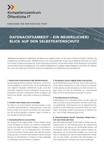 Titelbild der Publikation Datenachtsamkeit - Ein neuer(licher) Blick auf den Selbstdatenschutz