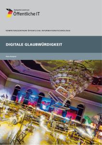 Titelbild der Publikation Digitale Glaubwürdigkeit