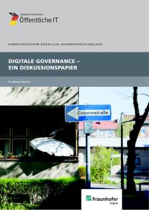 Titelbild der Publikation Digitale Governance - Ein Diskussionspapier