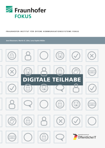 Titelbild der Publikation Digitale Teilhabe