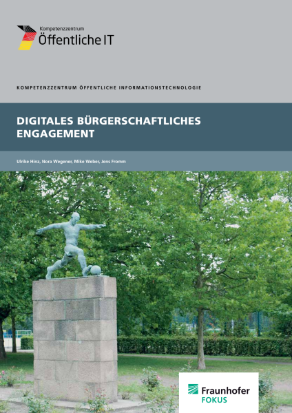 Titelbild der Publikation Digitales Bürgerschaftliches Engagement