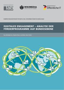 Titelbild der Publikation Digitales Engagement - Analyse der Förderprogramme auf Bundesebene