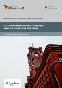 Titelbild der Publikation E-Government in Deutschland