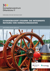 Titelbild der Publikation Evidenzbasiert steuern - Die integrierte Nutzung von Verwaltungsdaten