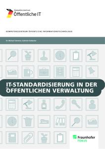 Titelbild der Publikation IT-Standardisierung in der öffentlichen Verwaltung