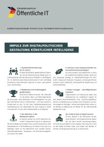 Titelbild der Publikation Impuls zur digitalpolitischen Gestaltung Künstlicher Intelligenz