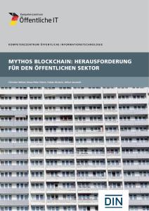 Titelbild der Publikation Mythos Blockchain - Herausforderung für den Öffentlichen Sektor