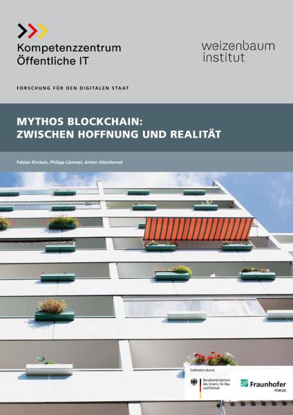 Titelbild der Publikation Mythos Blockchain - Zwischen Hoffnung und Realität