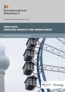 Titelbild der Publikation Open Data - zwischen Wunsch und Wirklichkeit