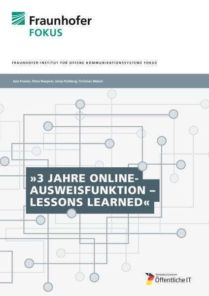 Titelbild der Publikation Personalausweis Erkenntnisse aus drei Jahren Online-Ausweisfunktion
