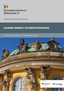 Titelbild der Publikation Sichere Mobile Authentifizierung
