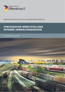 Titelbild der Publikation Strategische Bereitstellung offener Verwaltungsdaten