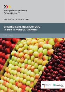 Titelbild der Publikation Strategische Beschaffung in der IT-Konsolidierung