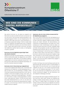 Titelbild der Publikation Wie sind die Kommunen in Deutschland digital aufgestellt
